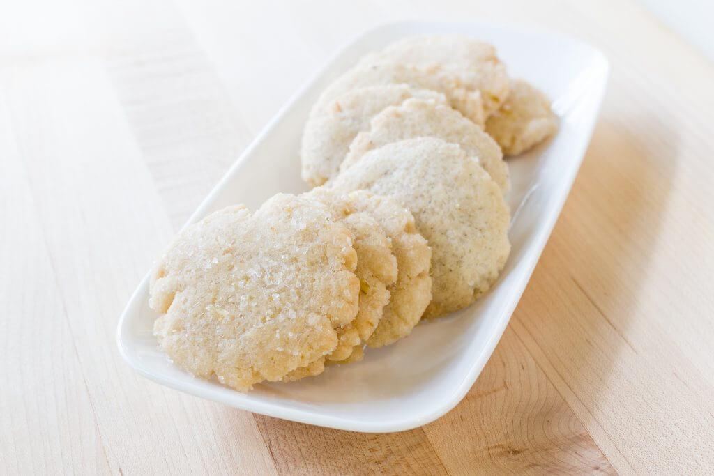 Vanilla Lime Shortbread Vegan Cookies