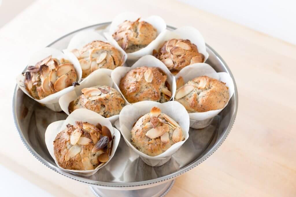 Almond Poppy Muffins Vegan Carina's Bakery