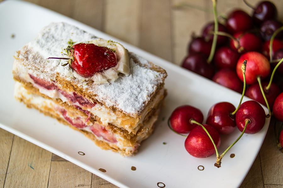 Molten Moringa Matcha Cake