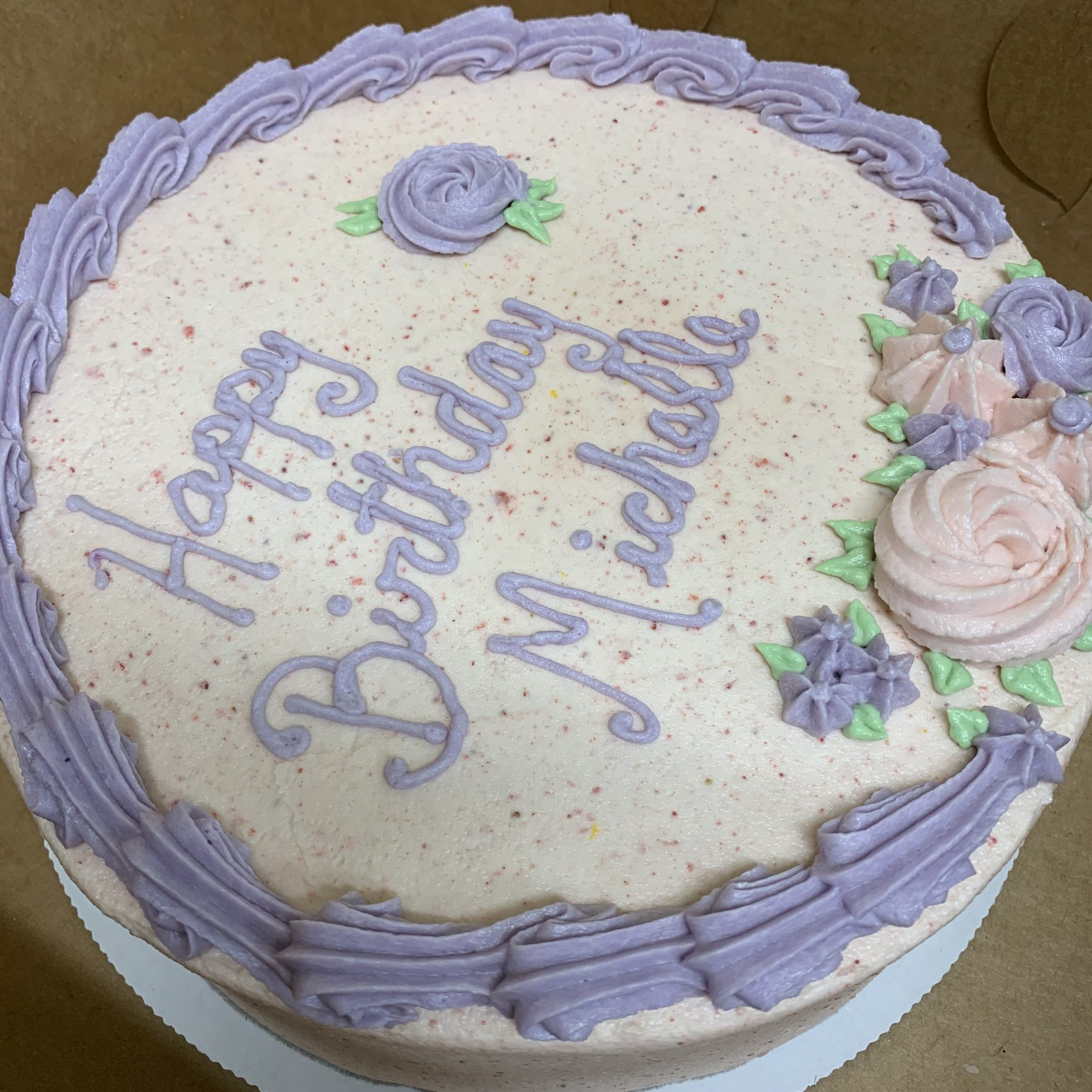 Custom Vegan Birthday Cake