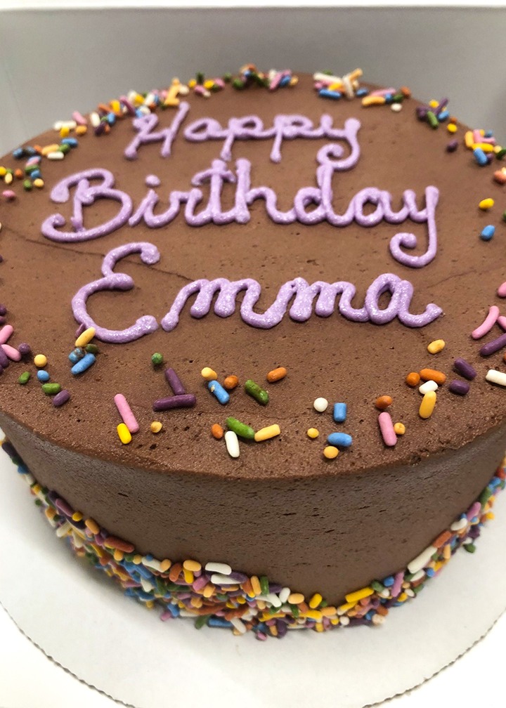 Custom Baked Birthday Cake
