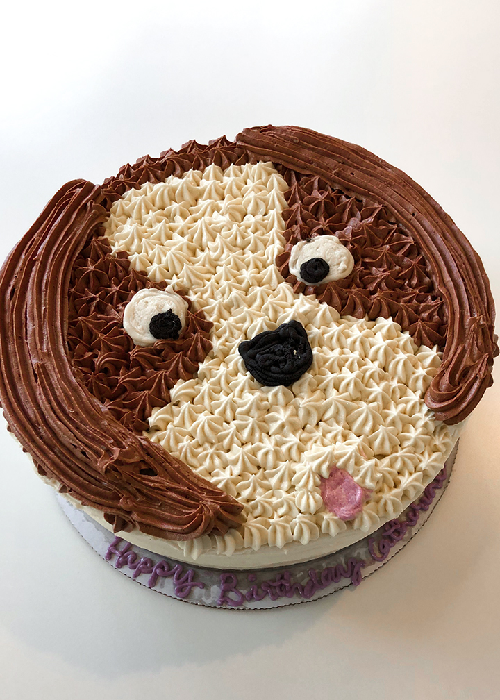 Custom Baked Dog Cake