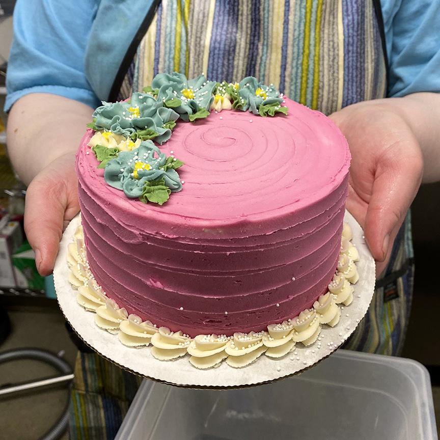 Custom Made Flower Cake