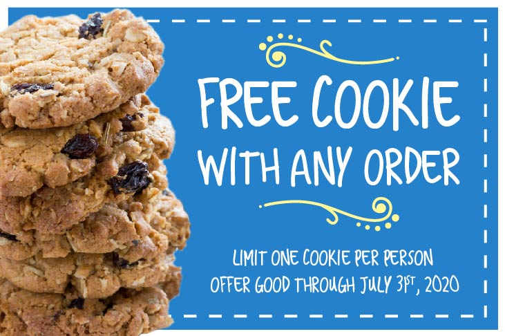 Carina's Bakery Free Cookie Online Coupon