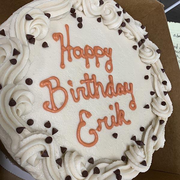 Vegan Birthday Cake Custom Baked