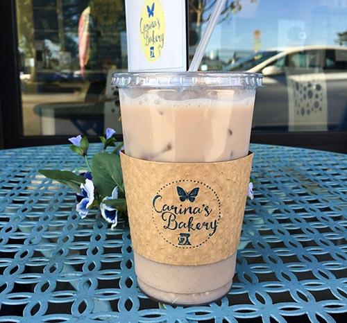 Fresh Iced Coffee at Carina's Bakery