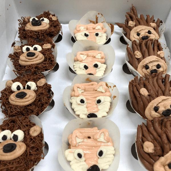 Custom Animal Cupcakes